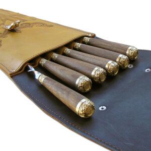 Наборы подарочных шампуров срукоятью издерева илатуни вколчане сгравировкой изображения